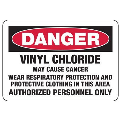 Mandatory GHS Safety Signs - Danger Vinyl Chloride Wear Respiratory Protection