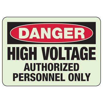 Electrical Danger High Voltage Glow Signs
