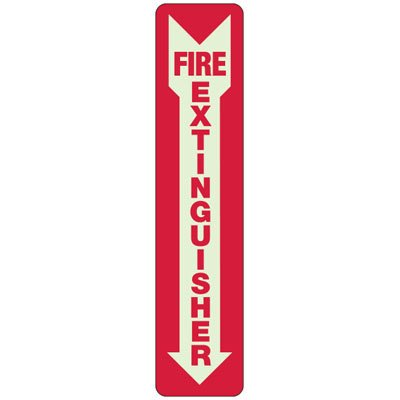 Slim-Line Fire Extinguisher Signs
