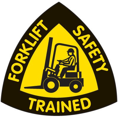 Safety Training Labels - Forklift Safety Trained