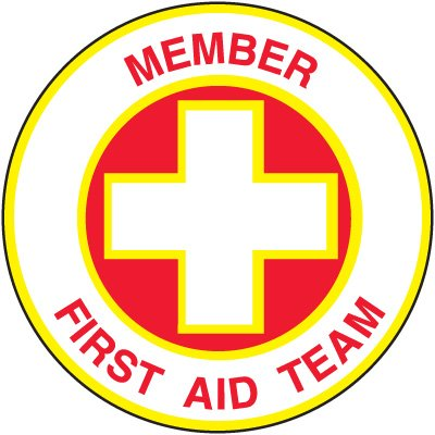 Safety Training Labels - Member First Aid Team