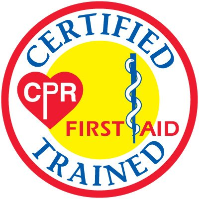 Safety Training Labels - Certified CPR First-Aid Trained