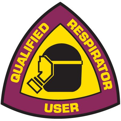 Safety Training Labels - Qualified Respirator User