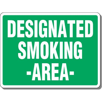 Heavy-Duty Outdoor Smoking Signs - Designated Smoking Area