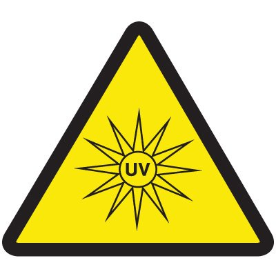 ISO Warning Symbol Labels - UV Hazard