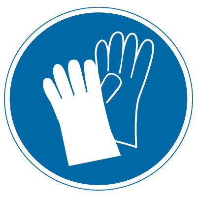 International Symbol Labels - Wear Hand Protection