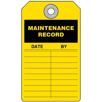 Maintenance Record Inspection Tag