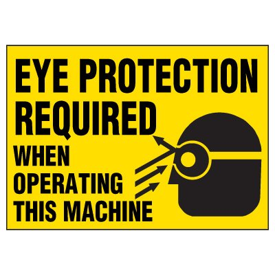 Eye Protection Warning Markers