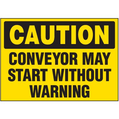Conveyor May Start Without Warning Markers