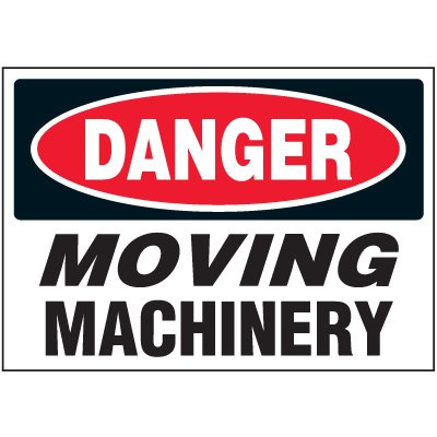 Machine Safety Labels - Danger Moving Machinery