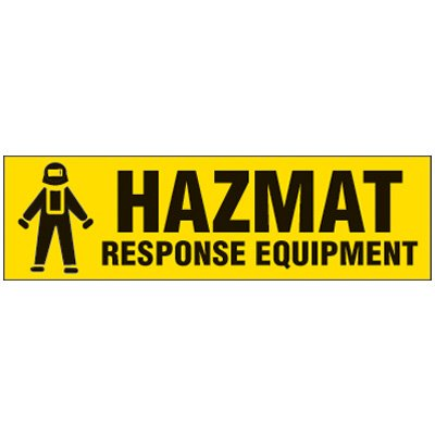 Hazmat Magnetic Storage Cabinet Label