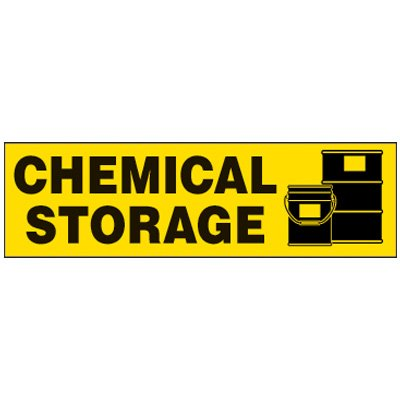 Chemical Storage Magnetic Cabinet Label