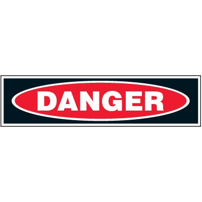 Machine Hazard Labels - Danger
