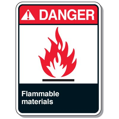 Chemical & Flammable Signs - Danger Flammable Materials