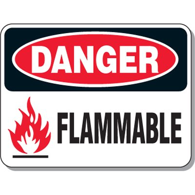 Chemical & Flammable Signs - Danger Flammable