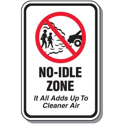 No-Idle Zone Sign