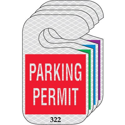 Reflective Hanging Parking Permits - Parking Permit