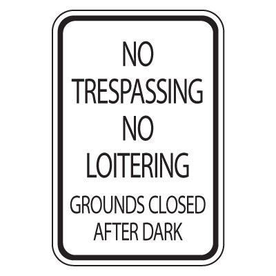 Parking Lot Safety And Security Signs - No Trespassing