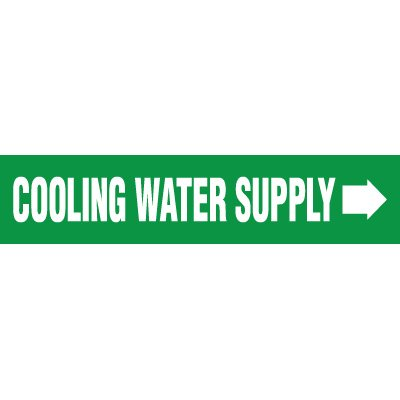 Cooling Water Supply Pipe Markers