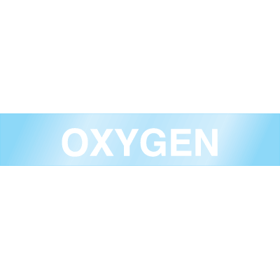 Oxygen - Poly-Code™ Clear Self-Adhesive Pipe Markers
