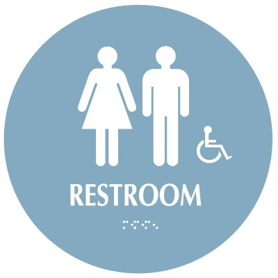 Restroom (Accessibility) - Modern California Code Restroom Signs