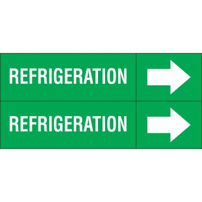 Refrigeration - Weather-Code™ Self-Adhesive Outdoor Pipe Markers