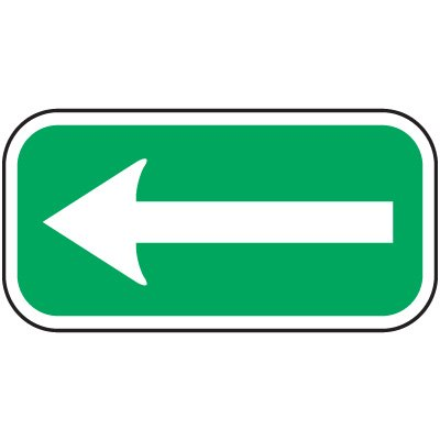 Reserved Parking Signs - Left Arrow
