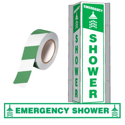 First Aid & Emergency Wash Area ID Kit - Shower