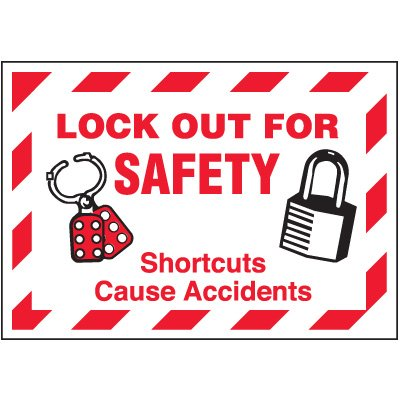 Lock-Out Labels - Lock Out For Safety