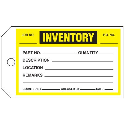 Inventory Status Tags
