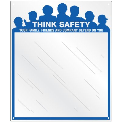 Safety Slogan Mirror Signs - Family, Friends, Company