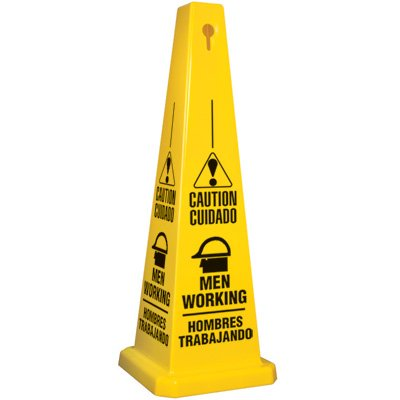 Bilingual Men Working Safety Cone