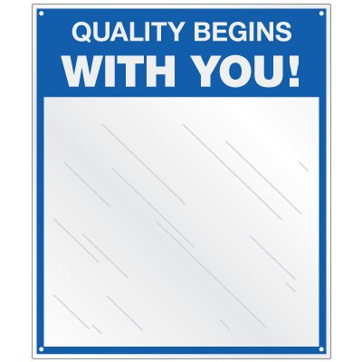 Safety Slogan Mirror Signs - Quality Begins With You