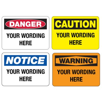 Semi-Custom Safety Signs