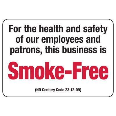 North Dakota Smoke-Free Business Sign