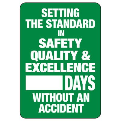 Setting The Safety Standard Scoreboard Signs