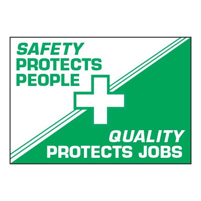 ToughWash® Adhesive Signs - Safety Protects People