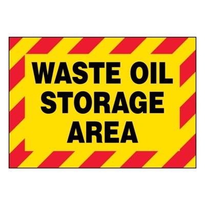 Super-Stik Signs - Waste Oil Storage Area