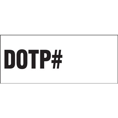 DOTP Vehicle Warning Labels