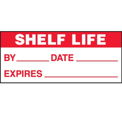 Shelf Life Status Label