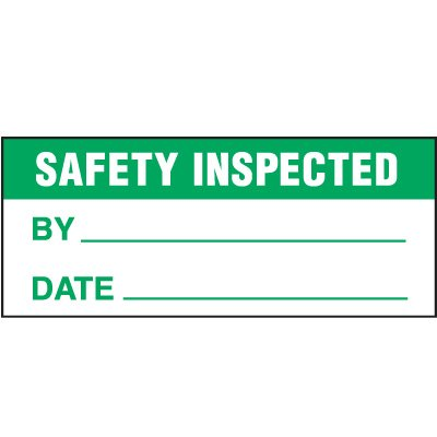 Safety Inspected Status Label