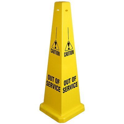 Caution Out Of Service Safety Cone