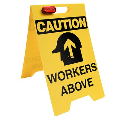 Caution Workers Above Floor Stand