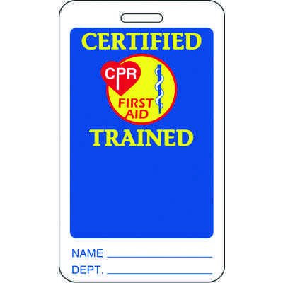 Certified CPR Trained ID Tag