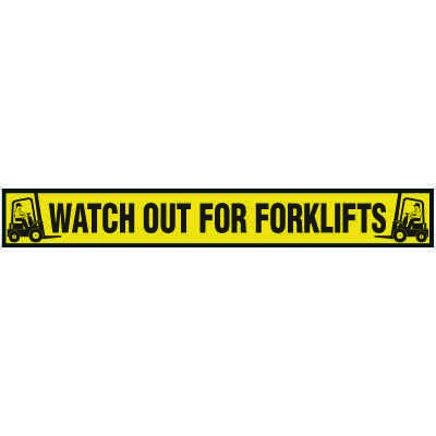 Watch Out For Forklifts Floor Marking Strips