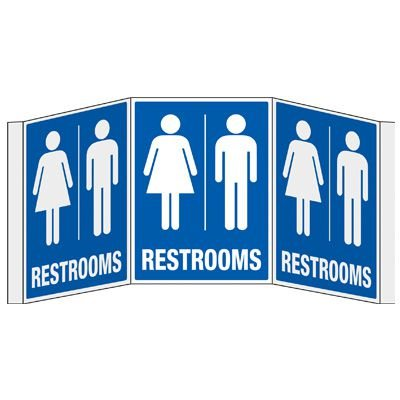 3D Projection Signs - Restrooms