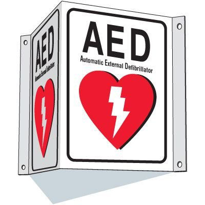 AED 3-Way Sign