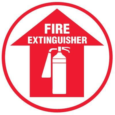 Floor Safety Signs -  Fire Extinguisher