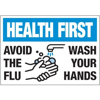 Avoid the Flu - Wash Your Hands Label