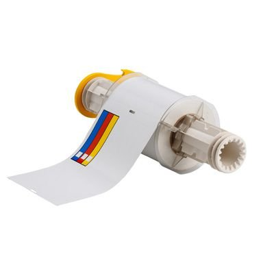 BBP®85 Series Label: Vinyl, Blue/Red/Yellow on White, 4 in H x 6 in W